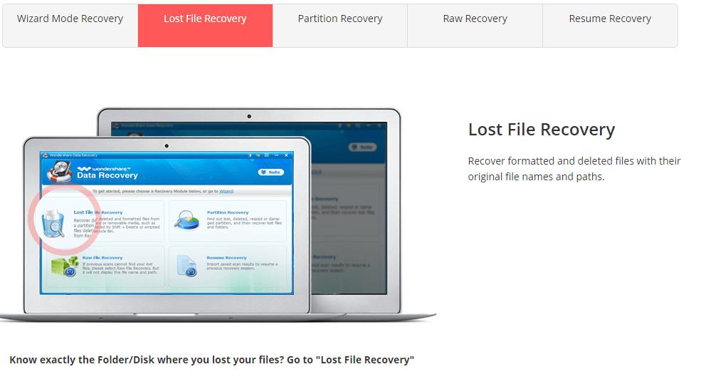 recover lost data windows 7 wondershare deleted files