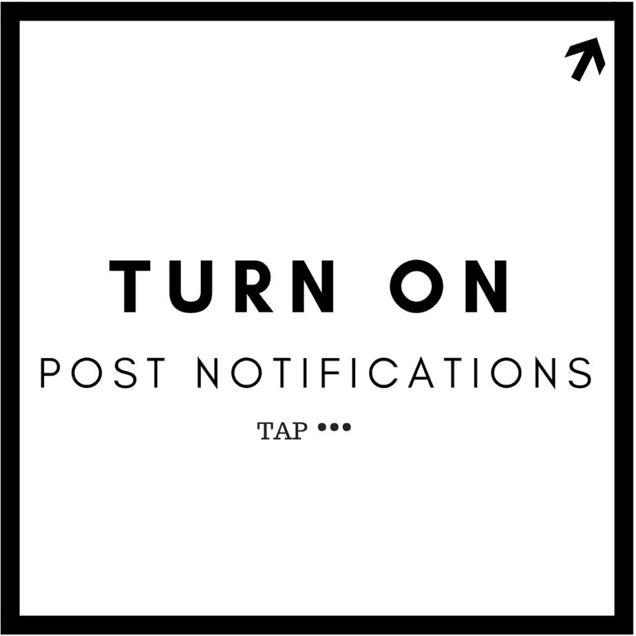 turn on post notifications instagram
